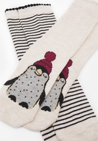 Hunkemöller - CHRISTMAS PENGUIN SOCKS 2 PACK - Socks - white - 1
