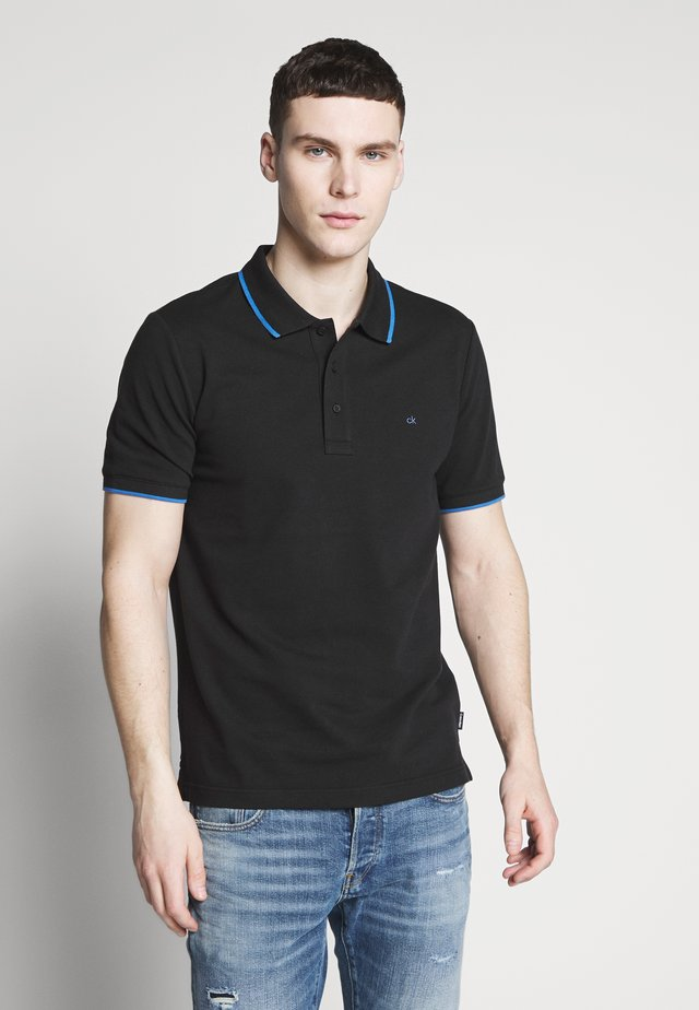 TIPPING SLIM - Polo shirt - black