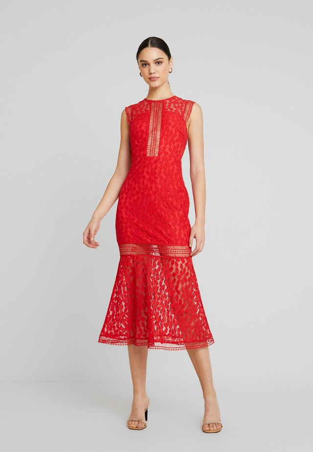 THE TANGO MIDAXI DRESS - Iltapuku - red