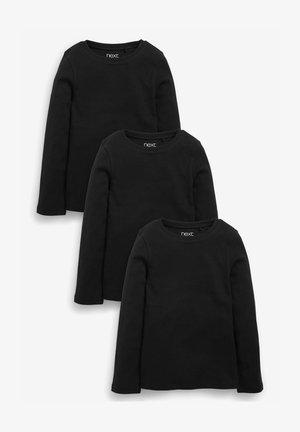 3 PACK - Longsleeve - black