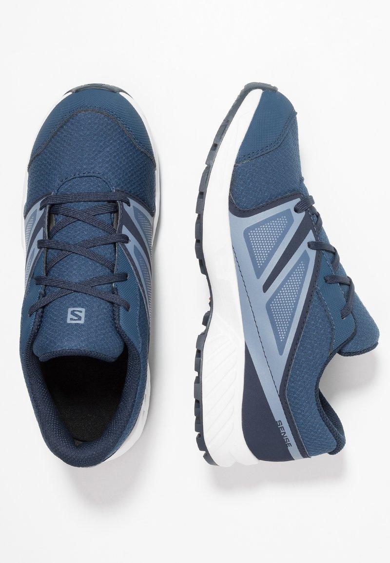 Salomon - SENSE CSWP - Trail running shoes - sargasso sea/navy blazer/flint