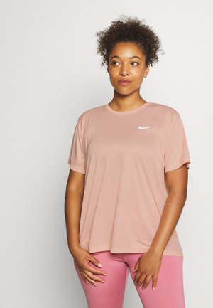 DRY MILER PLUS - Camiseta básica - washed coral/reflective silver