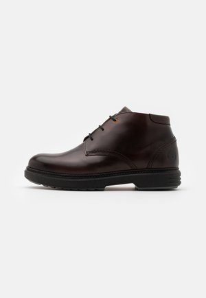 CHUKKA - Lace-up ankle boots - dark brown