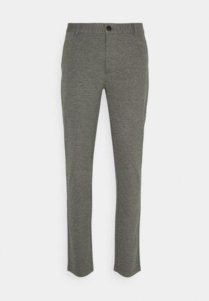 PANTS - Trousers - black melange