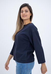 CLOSED - LONG SLEEVED STRUCTURED JERSEY  - Blouse - blue - 4