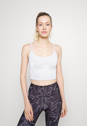 BELLE CAMI CROP - Light support sports bra - white