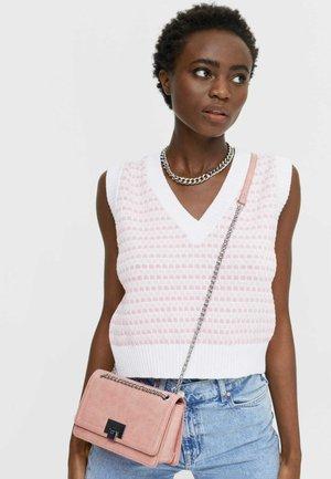 Across body bag - mottled light pink