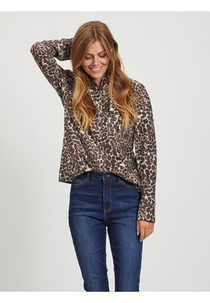 Button-down blouse - sandshell