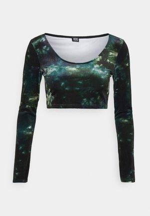 CROP - Long sleeved top - green