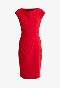 Lauren Ralph Lauren - MID WEIGHT DRESS - Shift dress - parlor red - 5