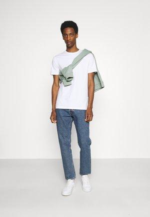7 PACK - T-shirt basique - black/white/olive