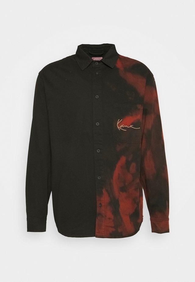 SMALL SIGNATURE BLEACHED SHIRT - Shirt - black