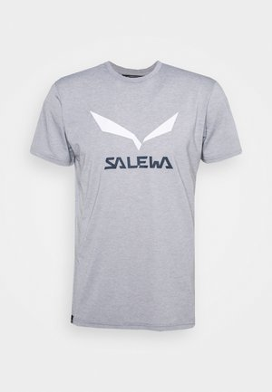 SOLID LOGO DRY - Print T-shirt - heather grey melange