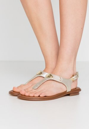 PLATE THONG - T-bar sandals - pale gold