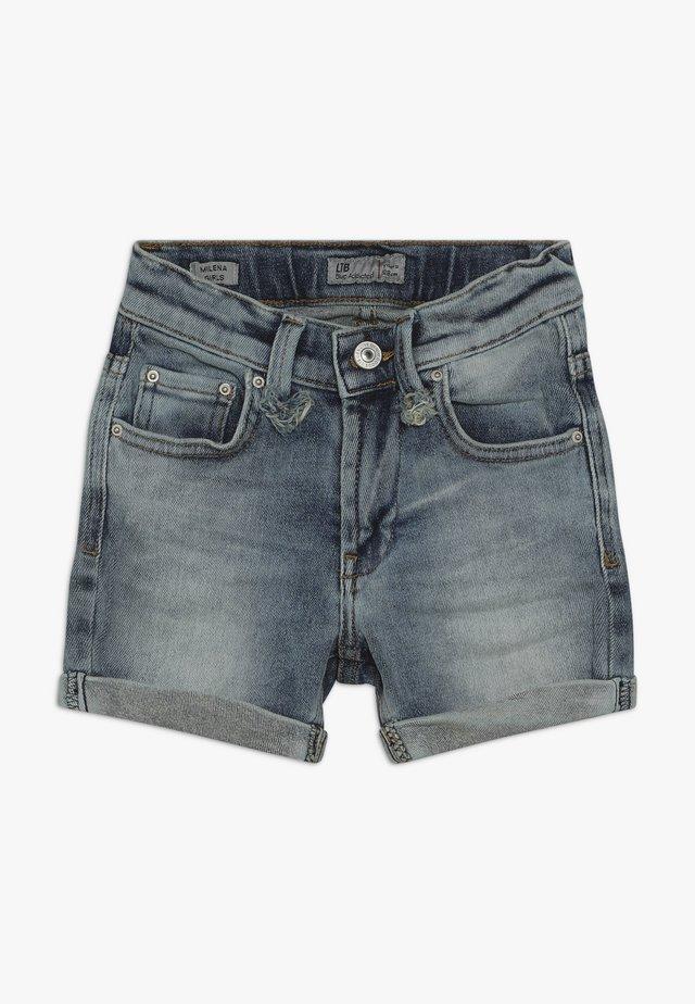 MILENA - Denim shorts - mist wash