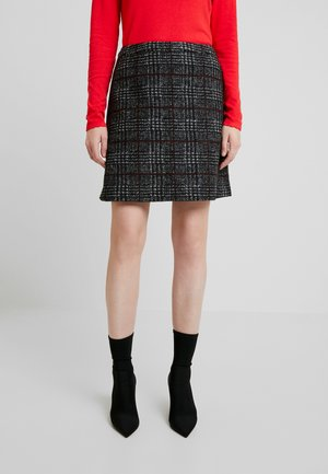 WINTER CHECK ME - Mini skirt - black