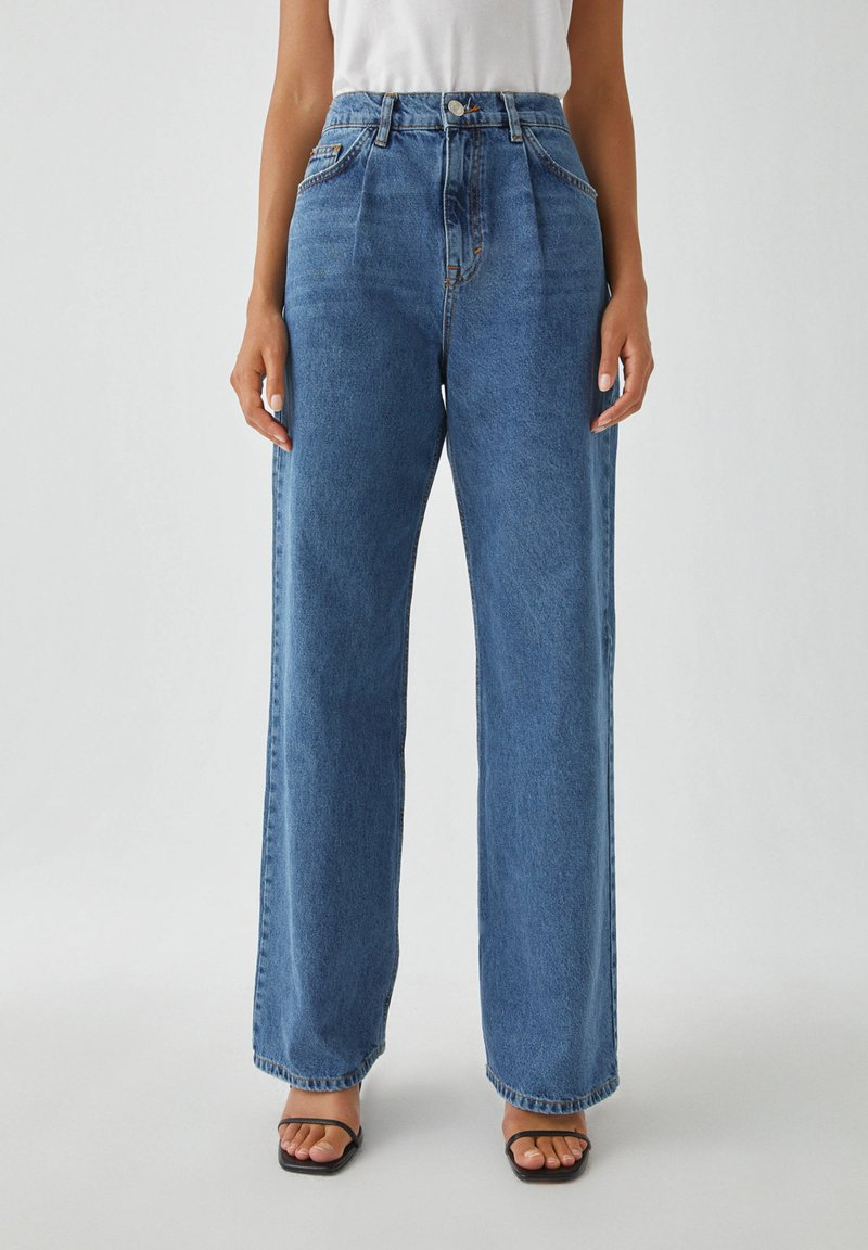 PULL&BEAR - Jeans Straight Leg - blue denim