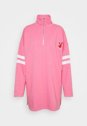 PLAYBOY VARISTY 3/4 ZIP - Sweater - pink