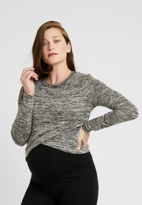 Cotton On - MATERNITY CROSS OVER FRONT LONG SLEEVE - Jumper - black - 2