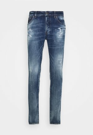 RAUPEU - Slim fit jeans - blue med