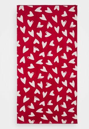 GIRL TOWEL HEARTS UNISEX - Telo da bagno - scarlet sage