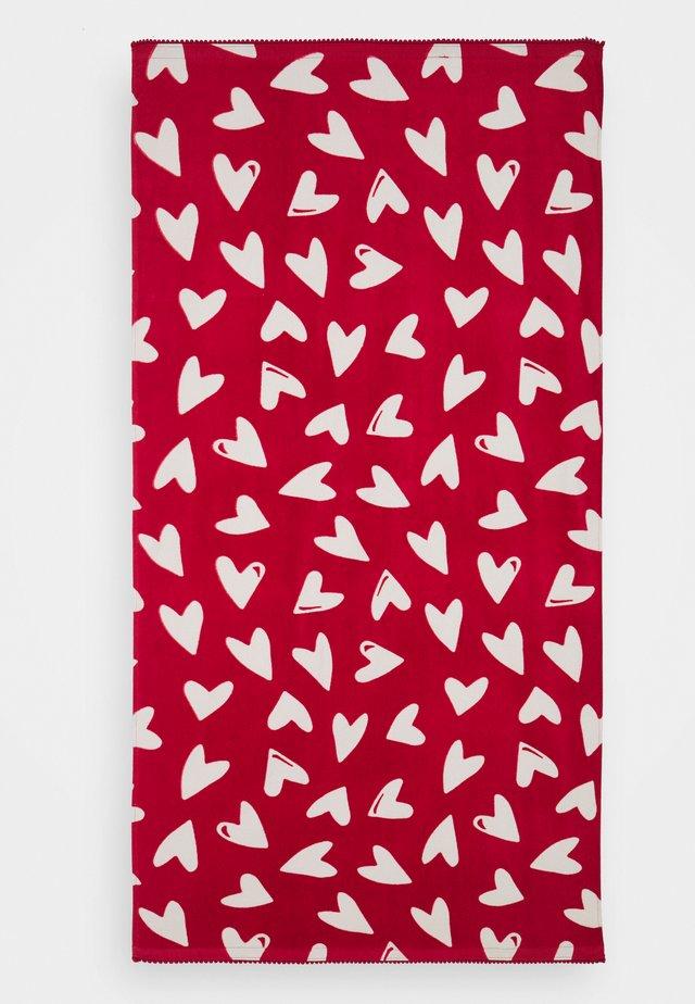 GIRL TOWEL HEARTS UNISEX - Sortie de bain - scarlet sage