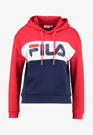 LORI HOODIE  - Bluza z kapturem - black iris/true red/bright white