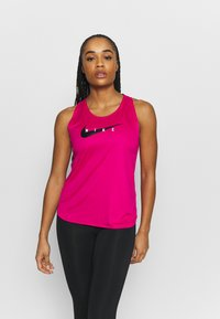 Nike Performance - RUN TANK - Top - fireberry/reflective silver - 0