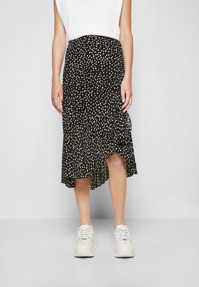 SKIRT - A-line skirt - navy/white