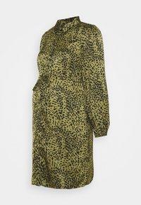 Pieces Maternity - PCMDANNI SHIRT DRESS - Shirt dress - black/olive - 4