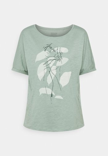 TEE PRINT - T-shirt imprimé - turquoise
