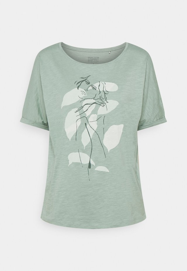 TEE PRINT - T-shirts med print - turquoise