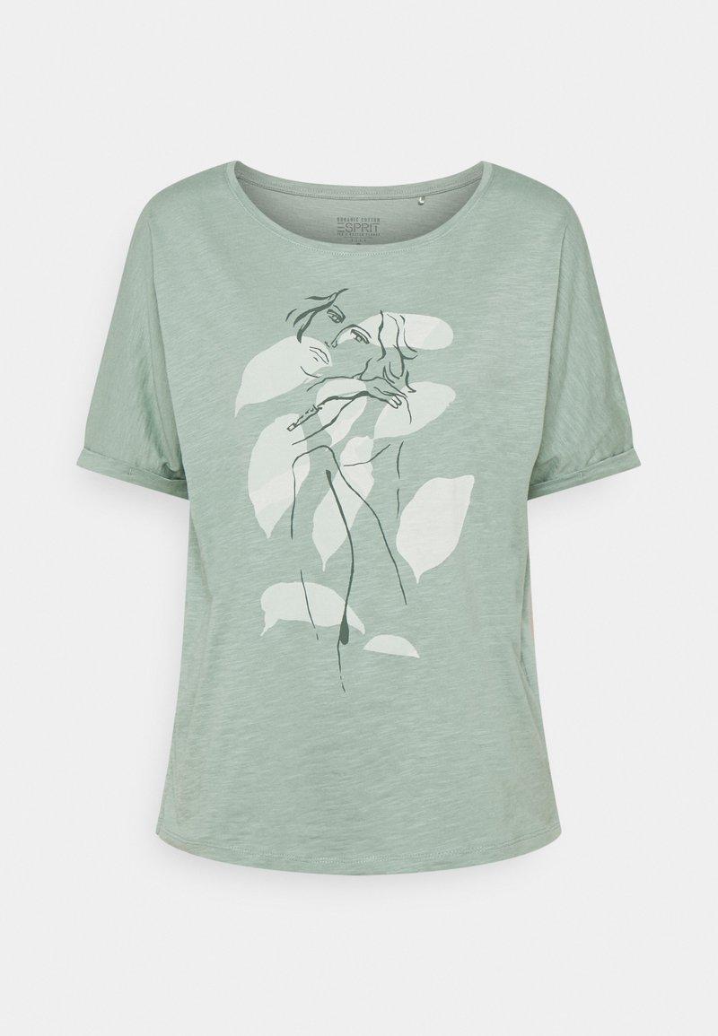 Esprit - TEE PRINT - Print T-shirt - turquoise