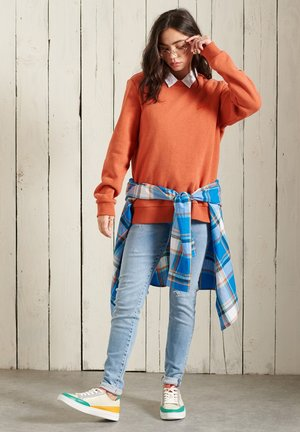 Sweatshirt - rust orange marl