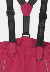 TrollKids - KIDS HOLMENKOLLEN SNOW SLIM FIT UNISEX - Snow pants - rubine-magenta - 3