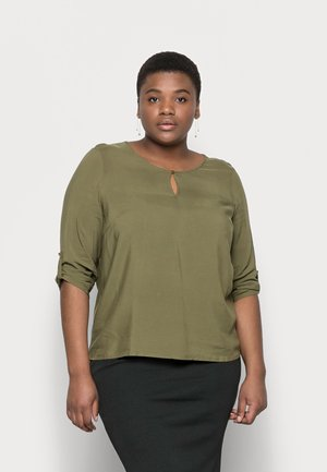 VMNADS 3/4 FOLD-UP TOP - Blouse - ivy green