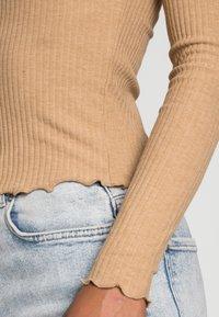 ONLY - ONLNELLA O NECK - Long sleeved top - tannin melange - 4