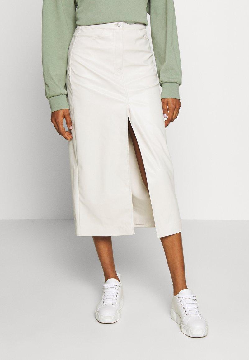 Weekday - EMMIE SKIRT - A-line skirt - beige dusty light