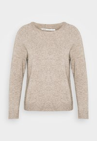 ONLY Petite - ONLLESLY KINGS - Jumper - beige/white melange - 5