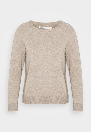 ONLLESLY KINGS - Jumper - beige/white melange