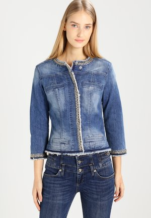KATE - Jeansjakke - denim blue stretch