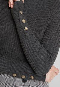 Freequent - Sweter - dark grey melange - 5