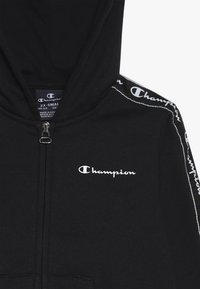 Champion - AMERICAN CLASSICS PIPING HOODED FULL ZIP - Mikina na zip - black - 4