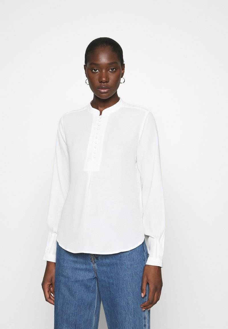 Selected Femme - SLFDYLANA - Button-down blouse - snow white