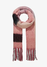 ONLY - ONLAZOR HEAVY FRINGE SCARF - Bufanda - light grey melange/black - 1