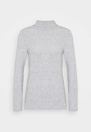 NMHILDE HIGH NECK - Strickpullover - medium grey melange