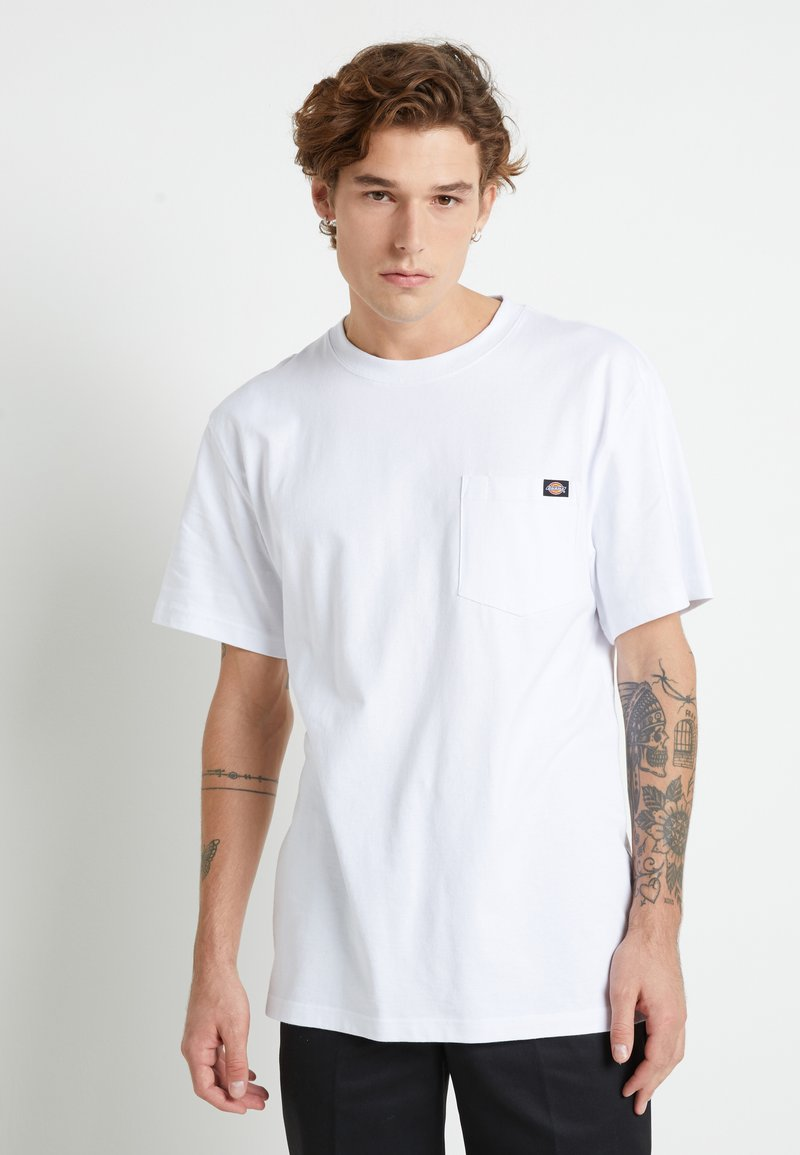 Dickies - PORTERDALE POCKET - Basic T-shirt - white