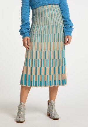 A-line skirt - kamel blau