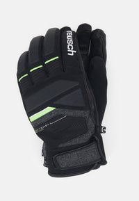 Reusch - STORM R-TEX - Handschoenen - black/black melange/neon green - 0