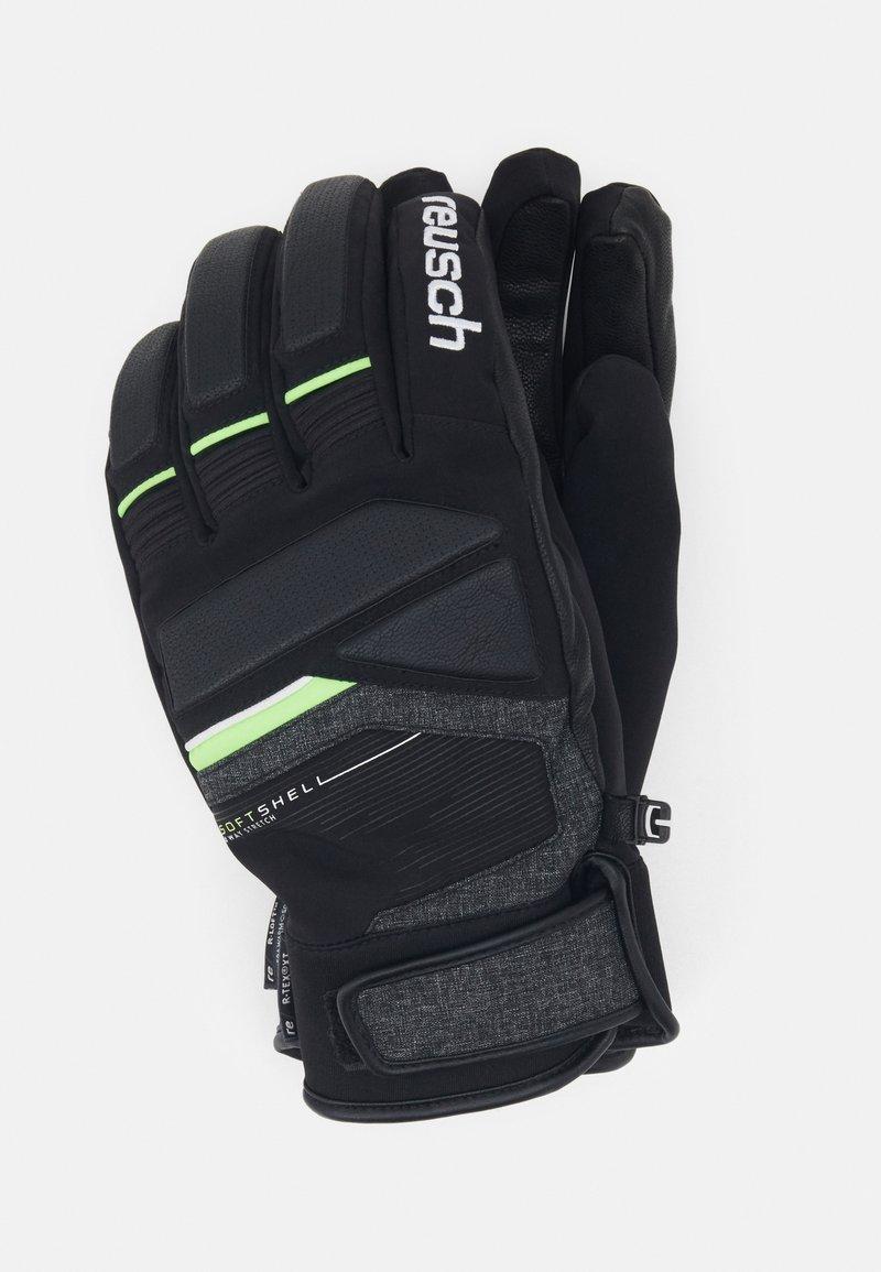 Reusch - STORM R-TEX - Handschoenen - black/black melange/neon green